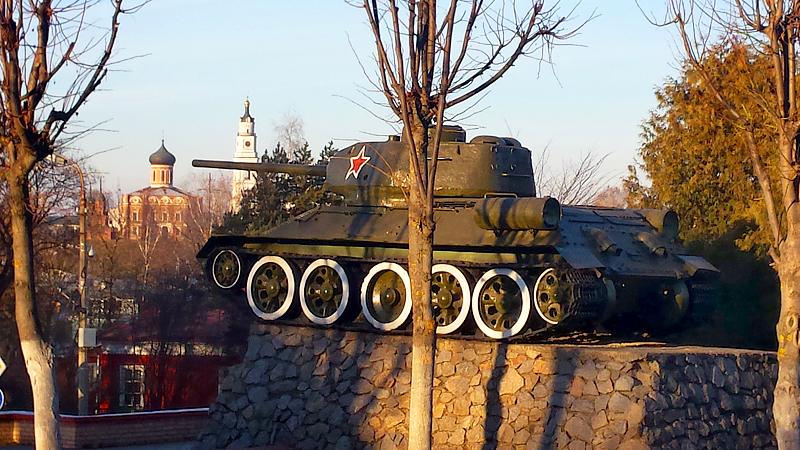 Памятник танку Т-34 в Волоколамске