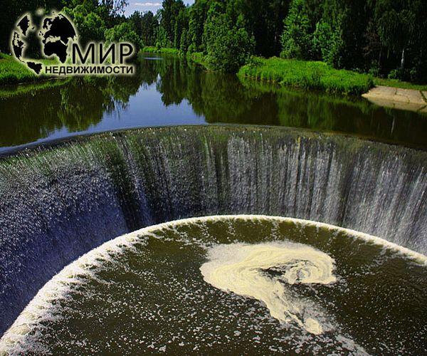 фотография водопада в селе Ярополец Волоколамского района Московской области