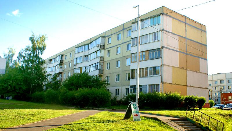 Многоквартирные дома серии 90 в городе Волоколамске Московской области