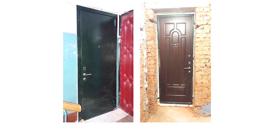 Установка металлической двери в Волоколамске