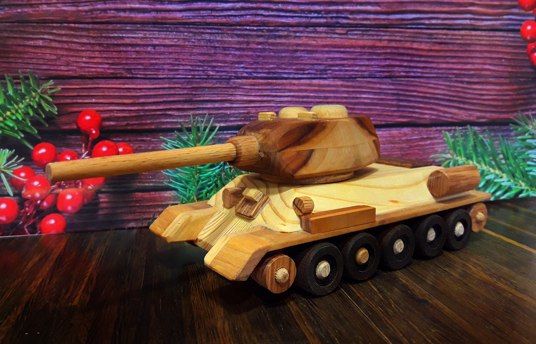 Детская игрушка - Танк Т-34 ручной работы 25.12.2018