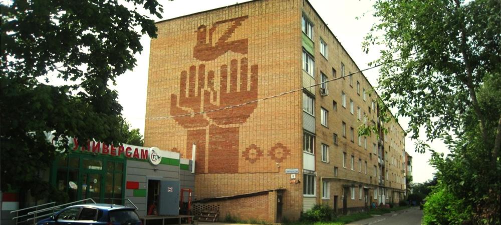 Дом с руками в городе Волоколамске на улице Свободы